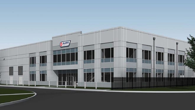 This rendering shows the future public refigerated warehouse that Burris Logistics plans to build near Atlanta this year.