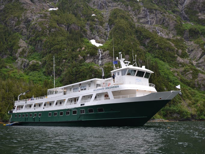 The 76-passenger Wilderness Discoverer is one of several small, expedition-style cruise ships sailing in Alaska. It's operated by Seattle-based, adventure-focused Un-Cruise Adventures.