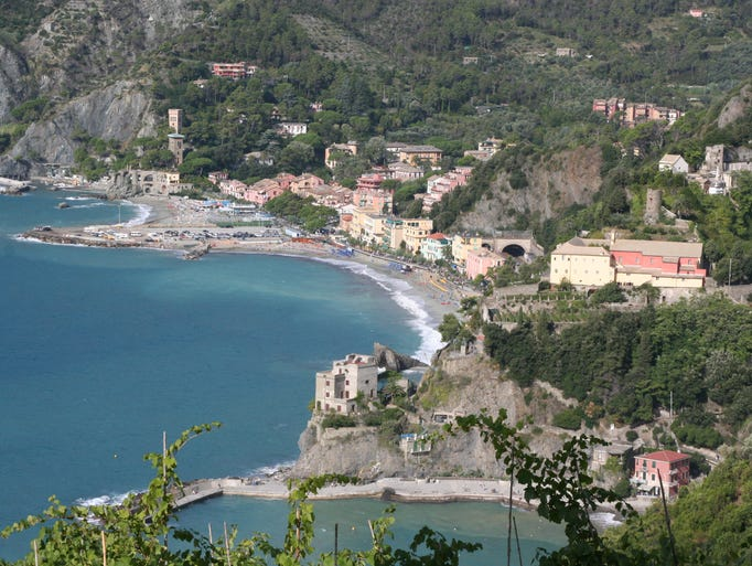 Monterosso, the northernmost village in Cinque Terre, is known for its sandy beaches.