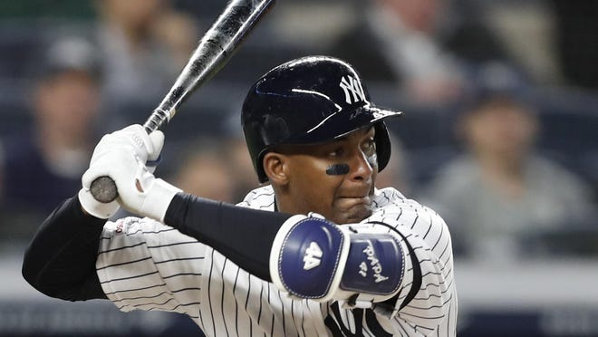 Yankees utility player Miguel Andujar returned to plate after 287-day absence and cracked a home run in a exhibition game Sunday.