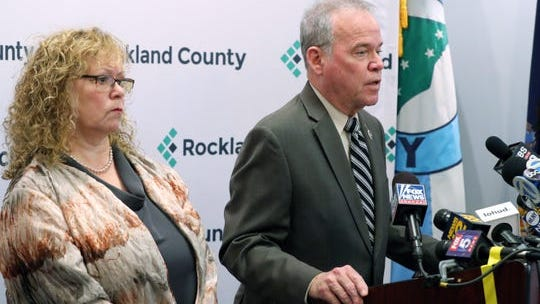 Rockland County Executive Ed Day and Health Commissioner Dr. Patricia Schnabel Ruppert in a 2019 file photo during Rockland's measles outbreak.