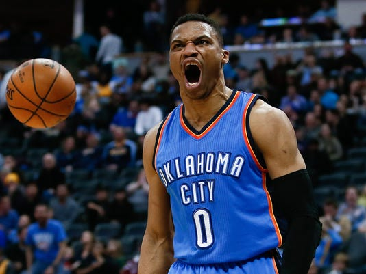 USP NBA: OKLAHOMA CITY THUNDER AT DENVER NUGGETS S BKN USA CO