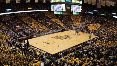 Wake Forest plays its home basketball games at the Joel Coliseum in Winston-Salem.