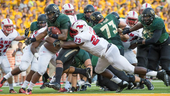 Baylor opened the 2014 season against SMU and it will do the same in 2015. The Mustangs lost last year's game 45-0 and finished the season 1-11.