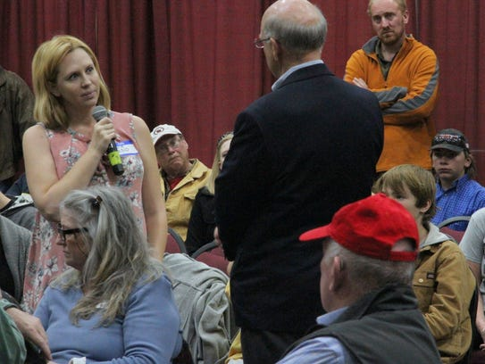 Constituents at Saturday's town hall got the chance