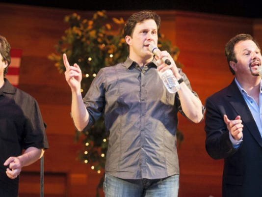 The Booth Brothers — Ronnie Booth, Michael Booth and Paul Lancaster — a Southern gospel trio, performed at the Coleman Memorial Park Amphitheatre on Sunday to kick off the summer concert series Music in the Park