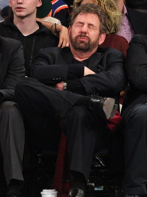 Knicks executive chairman James Dolan shows his disgust during a 29-point home loss to the Thunder on Christmas Day.