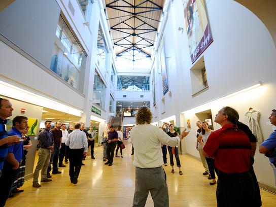 Pennsylvania State Representative Kevin Schreiber leads introductions at Martin Library during a green walking tour in downtown York Friday, June 5, 2015. The tour was sponsored by USGBC Central Pennsylvania and hosted by State Rep. Kevin Schreiber, D-York.  Kate Penn -- Daily Record/Sunday News