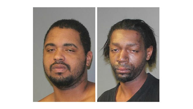 Michael Dewayne King, left, and Tommy Lee King were arrested on weapons and obstruction charges.
