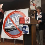 AP FILECindy Zipf, executive director of the Clean Ocean Action environmental group, speaks at a rally before a public hearing in Eatontown Nov. 4 on a proposal to build a terminal for liquefied natural gas off the coast of New Jersey and New York. Cindy Zipf, executive director of the Clean Ocean Action environmental group, speaks at a rally before a public hearing in Eatontown N.J. on Wednesday, Nov. 4, 2015 on a proposal to build a terminal for liquefied natural gas off the coast of New Jersey and New York. Environmental groups say the project is dangerous and unnecessary, but supporters say it could help lower home heating costs in winter. (AP Photo/Wayne Parry)