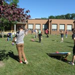 Students at Delsea Regional Middle School who achieved their goals for the final Accelerated Reader Goal Period were rewarded with a picnic.