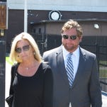 Former South Carolina Rep. Thad Viers leaves a federal courthouse after his arraignment on money laundering and other charges on Thursday.