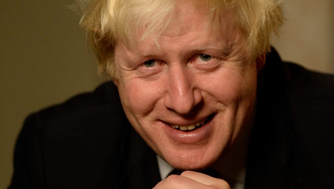 London Mayor Boris Johnson is in New York to promote a new book about Winston Churchill.