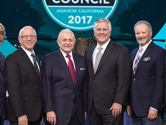 Assemblies of God leadership team includes, from left,