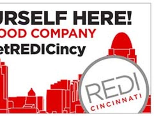 One of REDI Cincinnati's seven billboards around town.