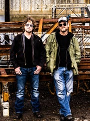 Swamp blues duo Hillstomp will play at 8 p.m. Friday,