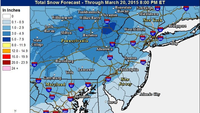Accumulating snow expected Friday.