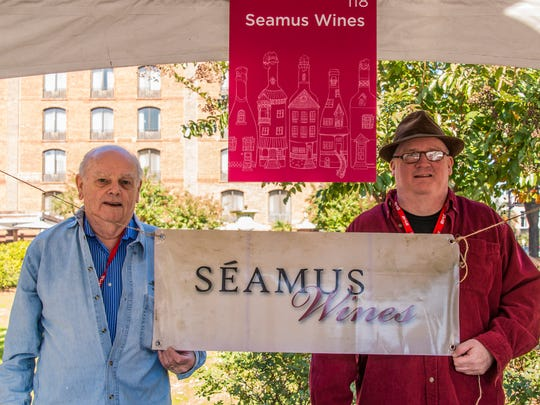 Jim Foley Sr. and Jr.  have an easy father-son partnership with Seamus Wines.