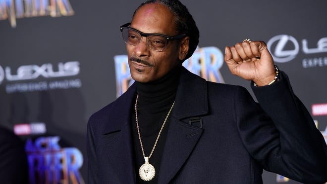 """Rapper Snoop Dogg, posing at the premiere of the film """"Black Panther"""" last year, is coming to the Southwest."""