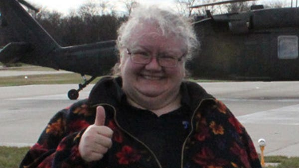 Thumbs up! This is me, Louise Oleson, after my first Black Hawk Helicopter ride - one of the top ten things I've ever done in my life!