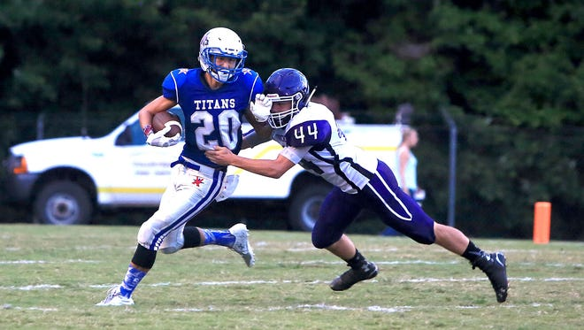 McDowell senior Chase Justice (20) has accepted a preferred walk-on spot with the Mars Hill football program.