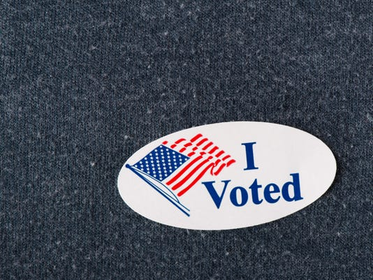 """I voted"" sticker Election"