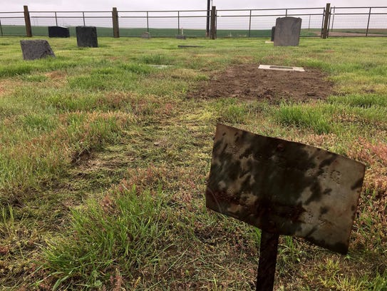 Some worn-out grave markers in the Carter Cemetery