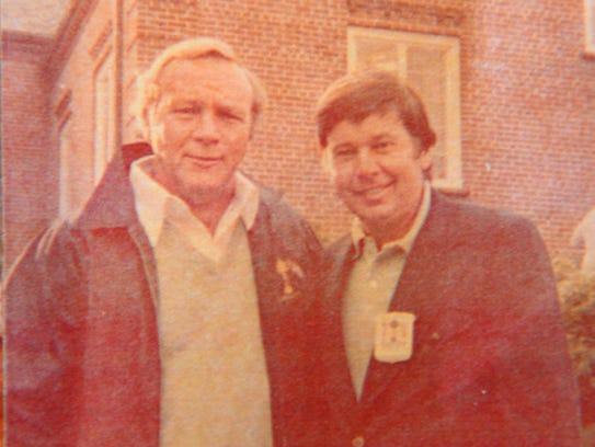 "Copy photo of Norman ""Fuzzy"" Furbush, right, with Arnold"