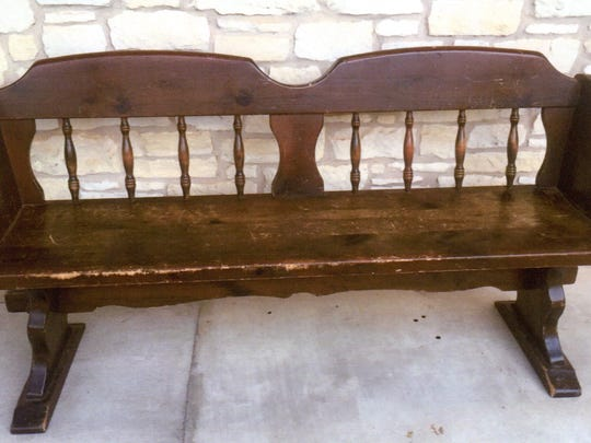 This Bennington Pine bench probably was made around the time of the Bicentennial in 1776.