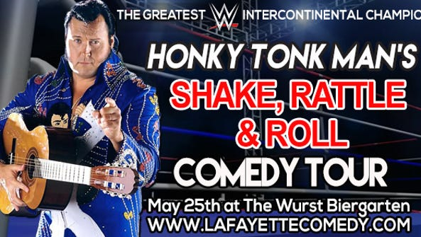 "The Honky Tonk Man's ""Shake, Rattle & Roll"" comedy"
