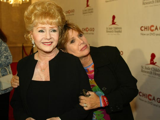 Debbie Reynolds and Carrie Fisher.