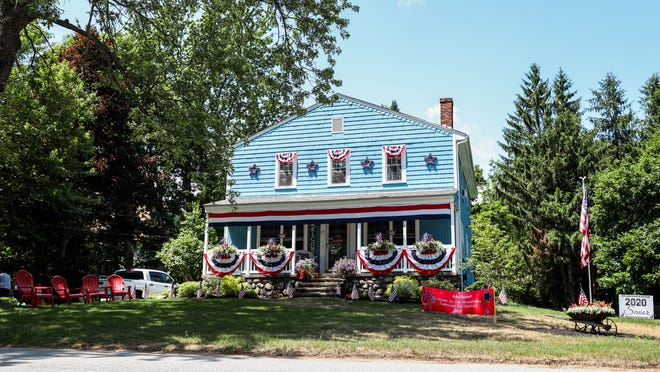 RUTLAND - The Heiniluoma family home at 17 Edson Ave., shown Saturday, won the grand prize in the town's Fourth of July house decorating contest, decided by online voting. The  4th of July Committee said on Facebook that 751 votes were cast.