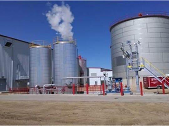 The Highwater ethanol facility in Lamberton, Minn.,