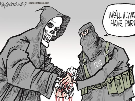 Mike Keefe, Cagle Cartoons, drew this editorial cartoon.