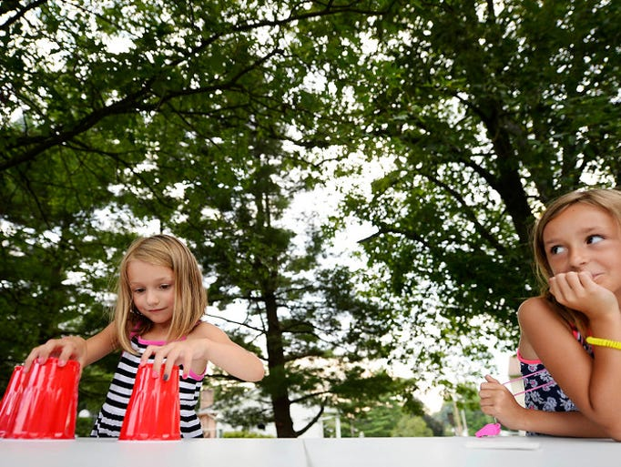 Five-year-old Zoe Trice, left, of West Manchester Township