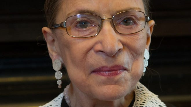 Supreme Court Justice Ruth Bader Ginsburg in her chambers in 2013.