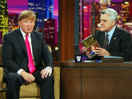 Donald Trump chats with Jay Leno during a 2004 episode