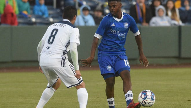 Reno 1868 FC takes on Fresno FC at Greater Nevada Field in Reno on June 9, 2018.