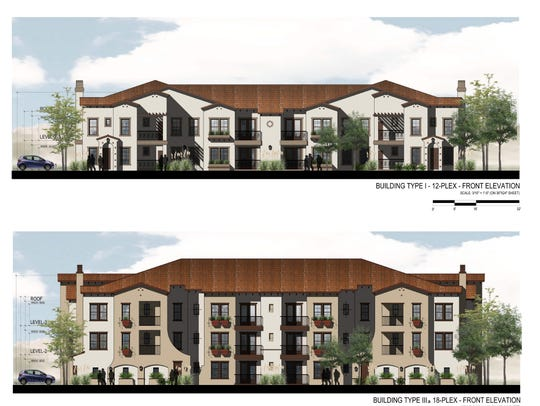 A rendering of what the Summit Club Apartments could