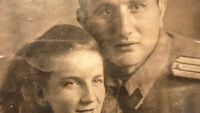 """This is the only existing picture of Lyudmila Alekseevna Khachatryan and """"the Yugoslav,"""" Radojica Nenezic."""