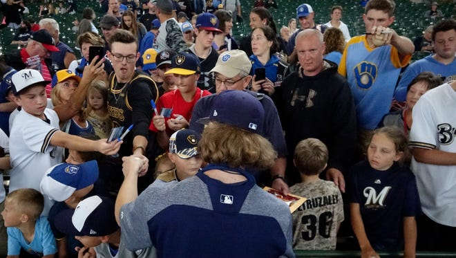 Brewers reliever Josh Hader  was cheered by fans in Milwaukee when he returned following the All-Star Game,