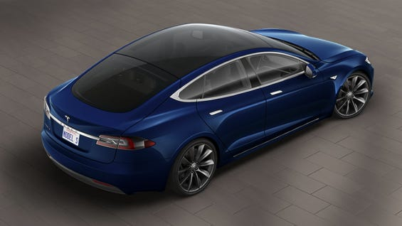 All-glass roof on the Model S.