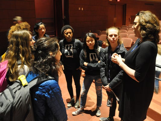 Joan Walsh speaks with the Shorewood High School students who organized the 50 Miles More march