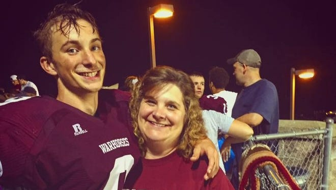 Owen's Bricen Fowler and his mother, Lisa.