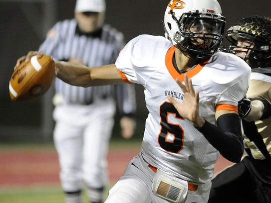 Cathedral Prep's Damion Terry attempts to get rid of