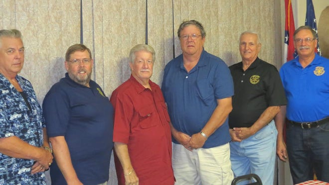 Newly elected Twin Lakes Retired Police Officers Association board members and officers are, from left, Robert Clippinger, treasurer; Ross Kelly, secretary; Bob Buschbacher, president; Jim Priest, vice president and Bruce Powell and Wally Smietanski, board members. David Manley, board member, was not available for the photo. For club information, call 491-5083.