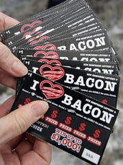 New scratch-and sniff lottery tickets are available in New Hampshire. The state is promoting the new tickets by bringing The Bacon Truck, a Boston-based food truck, to various locations around the state to hand out free lottery tickets and actual strips of bacon.