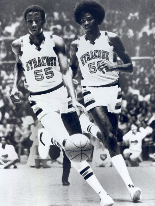 Louis Orr (55) and Roosevelt Bouie (50)