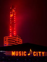 The Music Note during the free New Year's Eve event