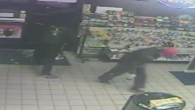 Police in La Vergne are looking for three men who robbed a Waldron Road convenience store Saturday morning.
